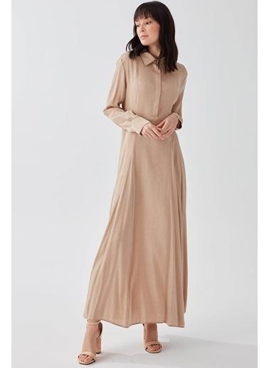 Vivencia Gömlek Yaka Kadın Elbise Vizon Vizon
